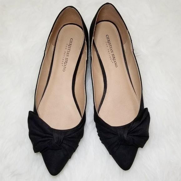 ccb1392637e2 Christian Siriano Shoes - Christian Siriano Fannie Black Pointed Toe Flats